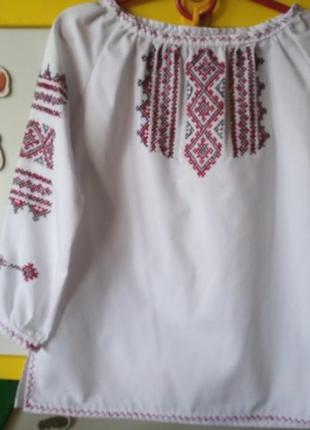 Вышиванка для девочки , ручная работа, ткань батист