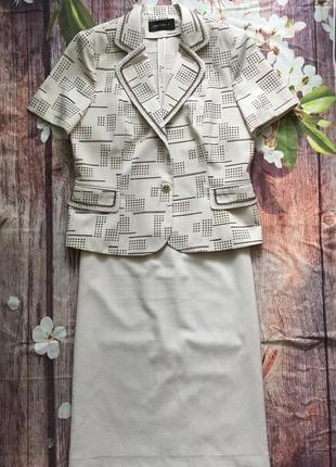 Костюм платье с пиджаком, crystall 46 р