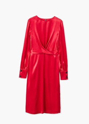 Атласное платье с запахом6 фото