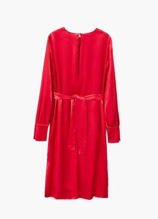 Атласное платье с запахом7 фото