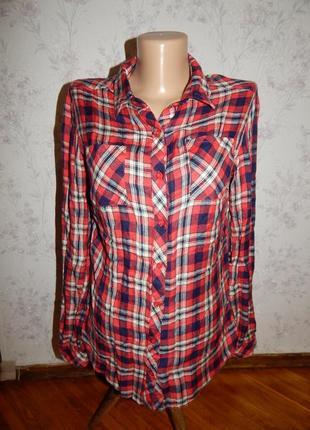 New look рубашка вискозная в клетку стильная модная рxs рост 158 915 generation
