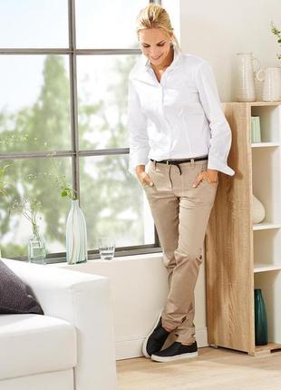 Классические брюки chino бежевые  от тсм tchibo германия