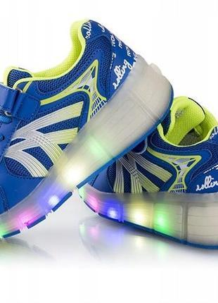 Heelys светящиеся кроссовки ролики на колесиках хилисы