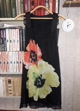 Платье, сарафан, туника, в составе натуральный шелк