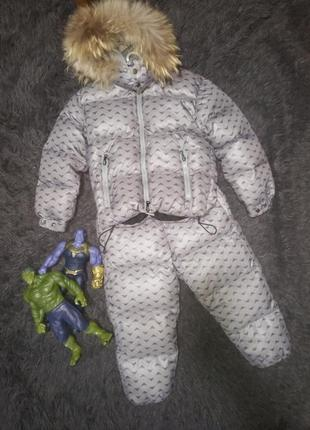 Зимний пуховик костюм комбинезон armani junior