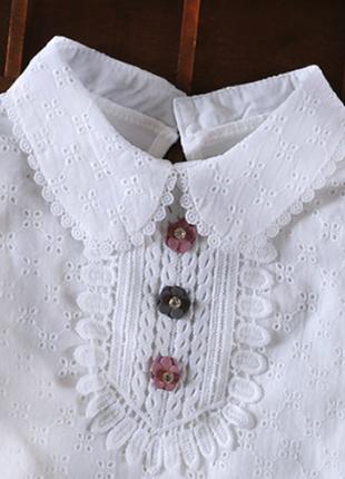 Очень качественные блузки в школу с прошвой р.116-146