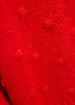 Теплий светр з бомбонами/насичений колір next5 фото