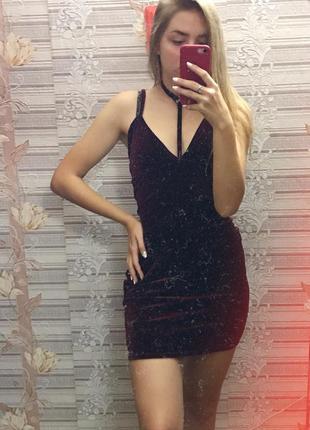 ❣️шикарное бархатное платье missguided