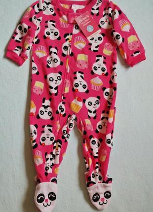 Carters новые теплые флисовые пижамы