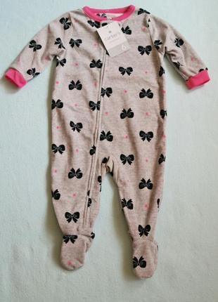 Carters новые флисовые человечки, пижамы