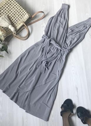 Платье серое hobbs размер s