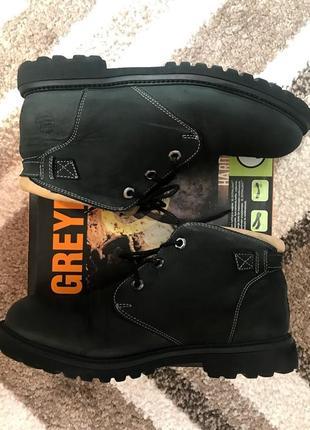 Крутые демисезонные непромокаемые ботинки вездеходы качественные удобные натуральная кожа