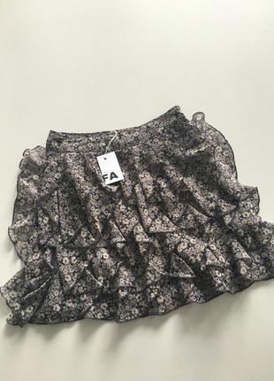 Шифоновая короткая юбка с рюшами next