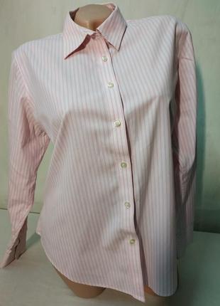 Рубашка с длинным рукавом в полоску