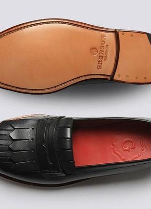 Grenson англия кожаные туфли лоферы с кисточками / бахромой оксфорды crockett barker uk6