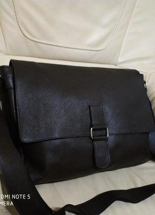 Фирменная мужская сумка vera pelle