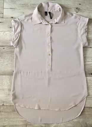 Базовая бежевая женская блузка mango с