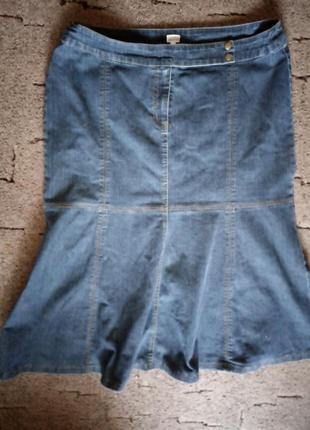 Джинсовая юбка 56 размера