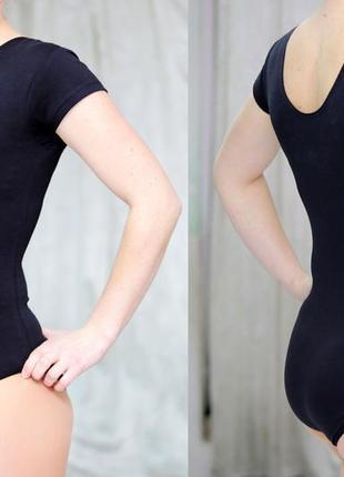 Купальник для танцев и тренировок с коротким рукавом.