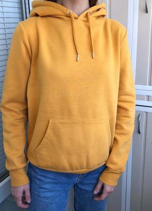 Яркий жёлтые худи оверсайз цвета манго от new look