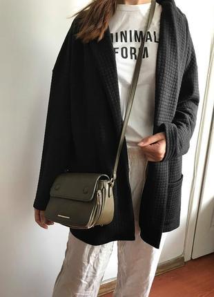 Фактурный удлиненный пиджак блейзер оверсайз