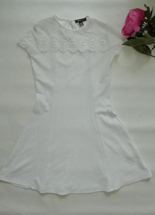 Платье primark белое очень красивое 12-13лет