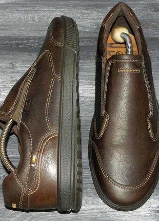 Ecco ! оригинальные, кожаные, невероятно крутые туфли-мокасины