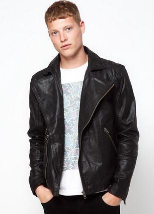 Чёрная кожаная куртка barney's !