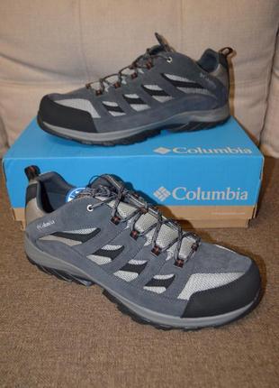 Кожаные ботинки кроссовки columbia crestwood