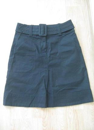 Черная юбка-трапеция котон