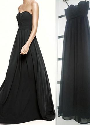 Струящиеся платье бандо в пол jarlo макси вечернее выпускное черное