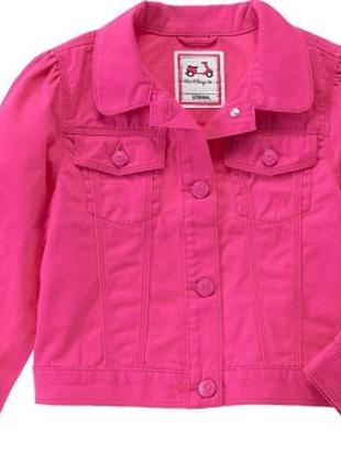 Малиновая джинсовая куртка gymboree