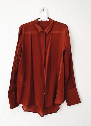 Шелковая блуза mango