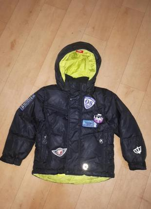 Очень теплая куртка пуховик reima 110cm