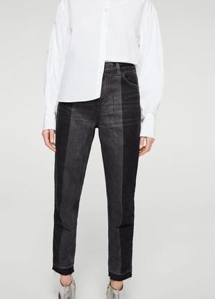 Mom джинсы с высокой посадкой mango, момы, высокая талия, винтаж