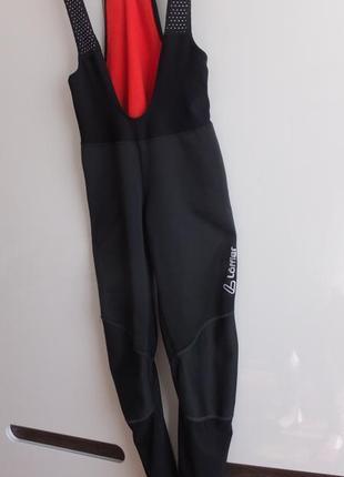 Лыжные брюки трико löffler warm-up tights ws softshell warm тайтсы для биатлона чёрные