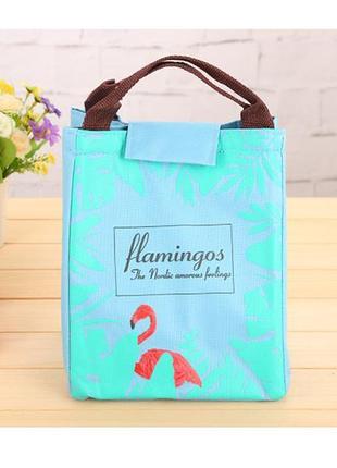Термо ланч-сумка с фламинго