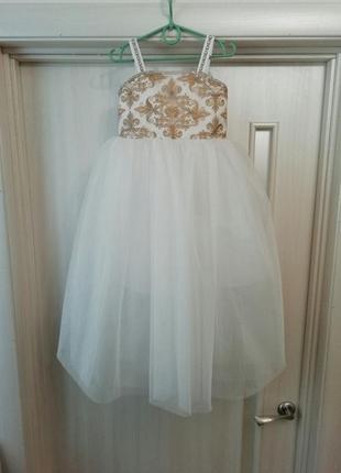 Вечернее платье для девочки(110-122 см рост)