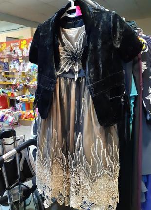 Вечернее платье + болеро для девочки