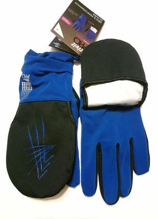 Перчатки трансформеры для атлетики crivit pro