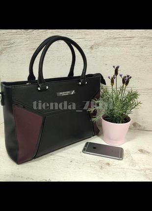 Офисная сумка с длинной ручкой f9972-1-618 черная