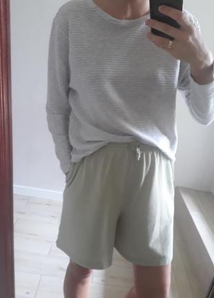 Базовый фактурный серый джемпер хлопковая кофта оверсайз opus