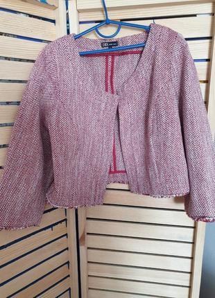 Твидовый короткий пиджак didi