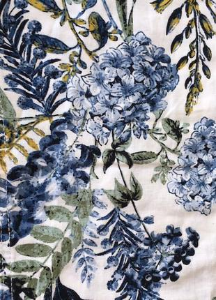 Organic льняные белые брюки с цветами next7 фото