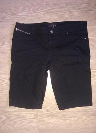 Джинсовые черные шорты капри бриджи twenty one