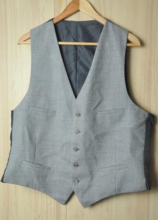 Полу шерстяной костюмный жилет