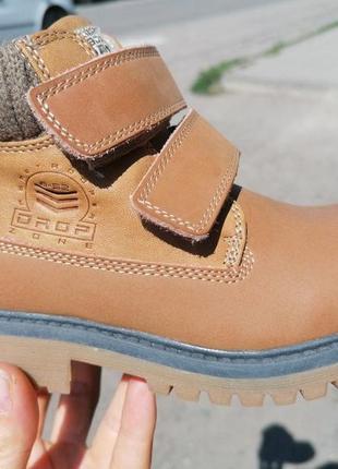 Кожаные ботинки фламинго