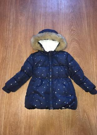 Теплая куртка в сердечки от primark, указано 1,5-2 г