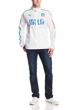 Космическая мастерка ветровка puma italy italia walk out soccer football training jacket