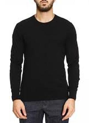 Burberry! оригинал! идеальный черный джемпер с фирменными накладками по рукавах